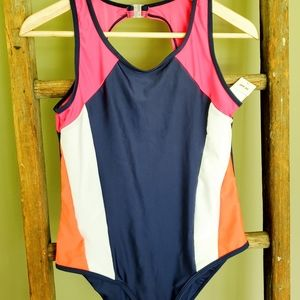 NWT Girls one piece swim suit